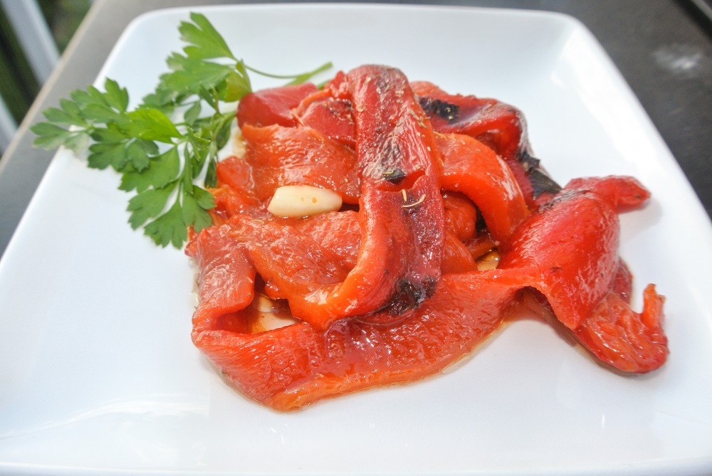 Roasted Red Peppers Italian appetizer